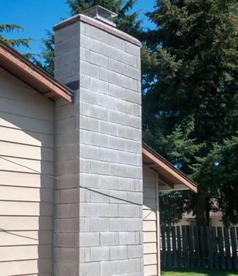 cinderblock chimney